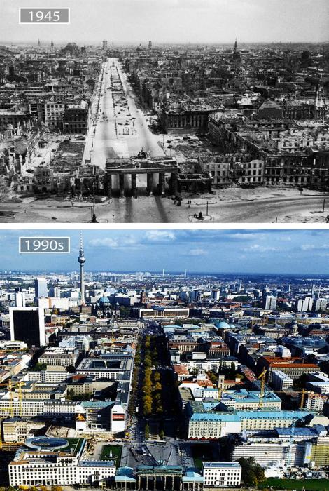 Берлин в 1945-ом и в 1990-м.