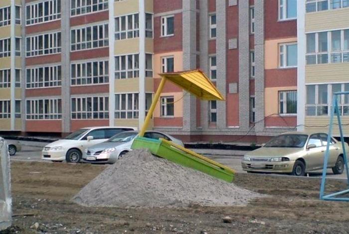 Песок вышел из берегов.