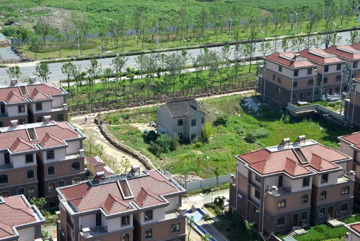 Одинокий дом Сучжоу, Цзянсу, Китай.