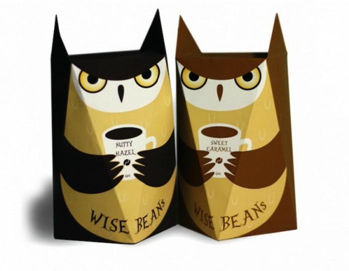 Кофейные зерна в забавных упаковках. | Фото: Главком.