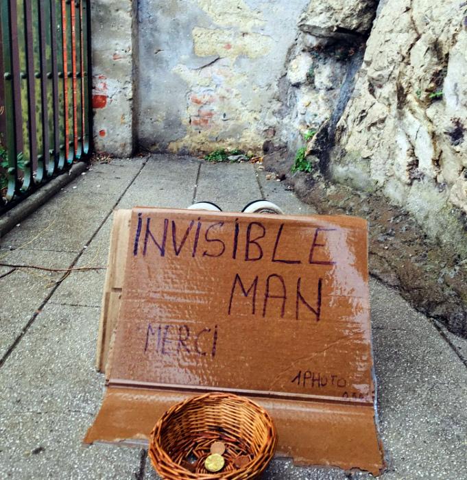 Материальная помощь для человека-невидимки.