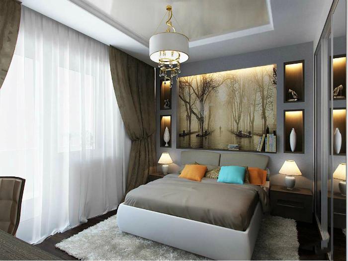 Стильная спальня в классическом стиле.