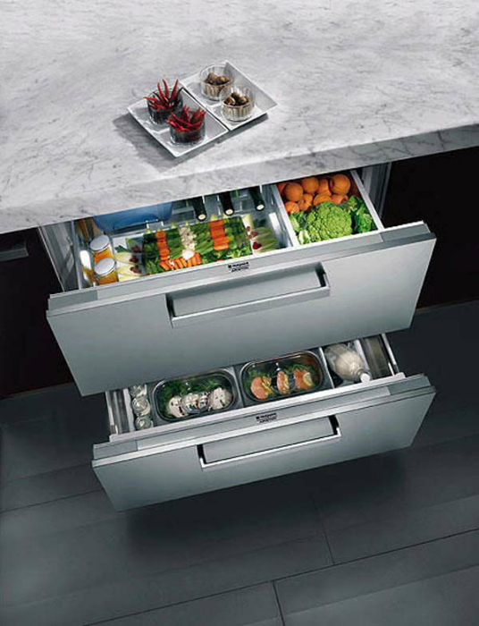 Суперкомпактный холодильник.