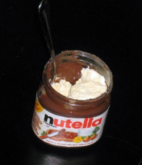 La eliminación de los restos de Nutella.