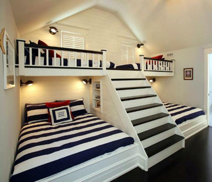 Спальня для нескольких детей.
