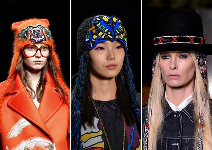 Забавные игривые шапочки с завязками.