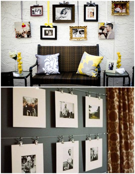 Декор стен фотографиями.