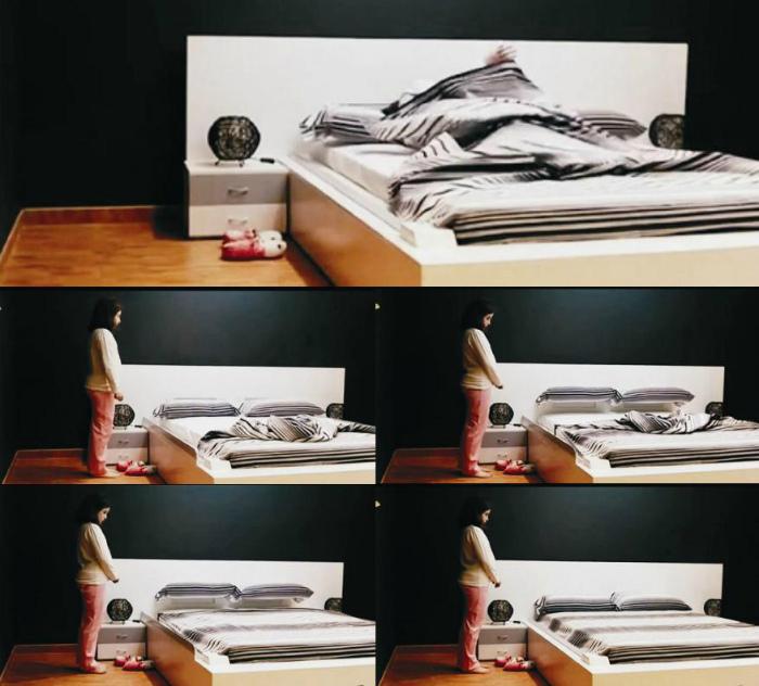 Кровать, которая заправляется автоматически.