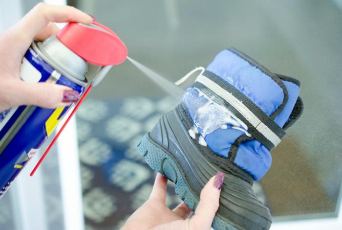 Обработка обуви.