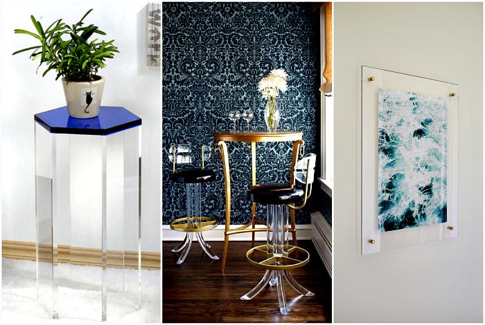Мебель и предметы декора из акрила.