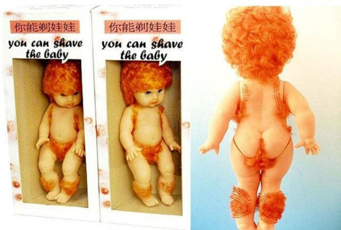 Кукла, которую можно побрить