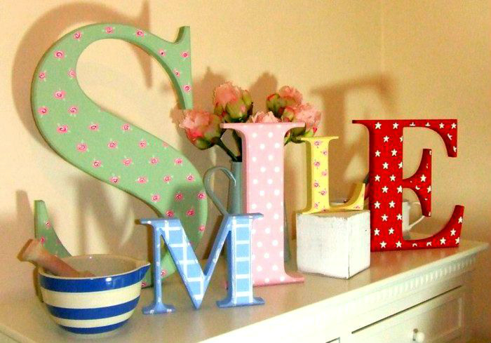 Буквы для домашнего декора. | Фото: Pinterest.