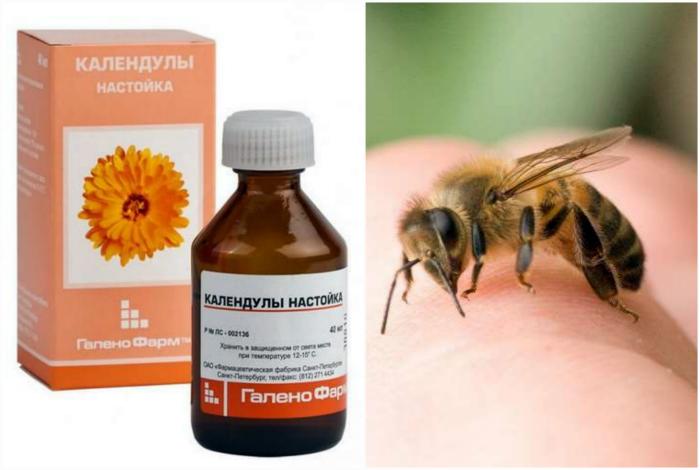 Настойка календулы при укусе пчелы.