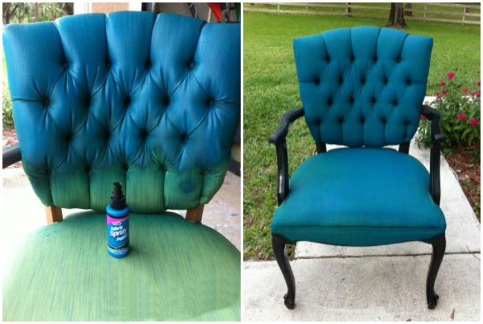 Покраска кресла.