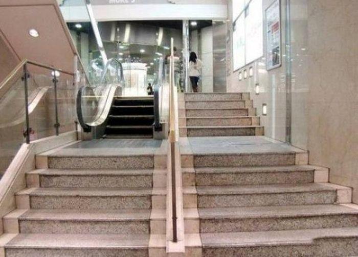 Эскалатор на 5 ступенек.
