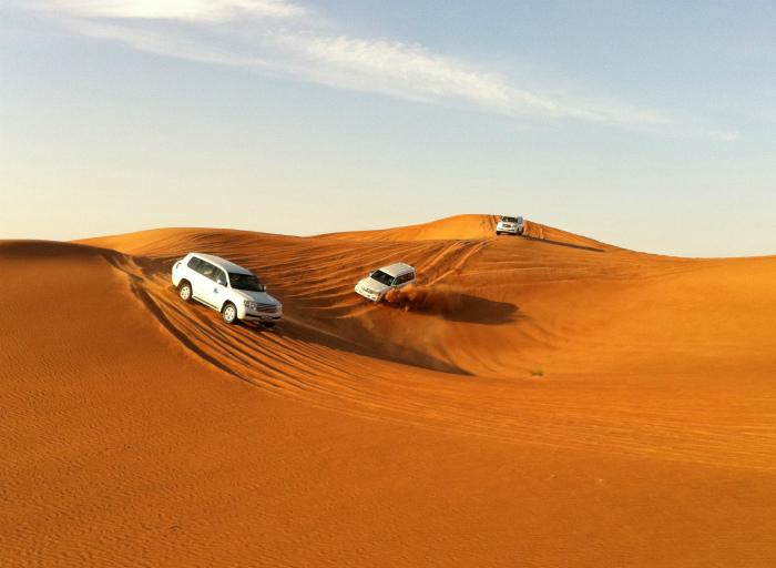 Гонки в пустыне.