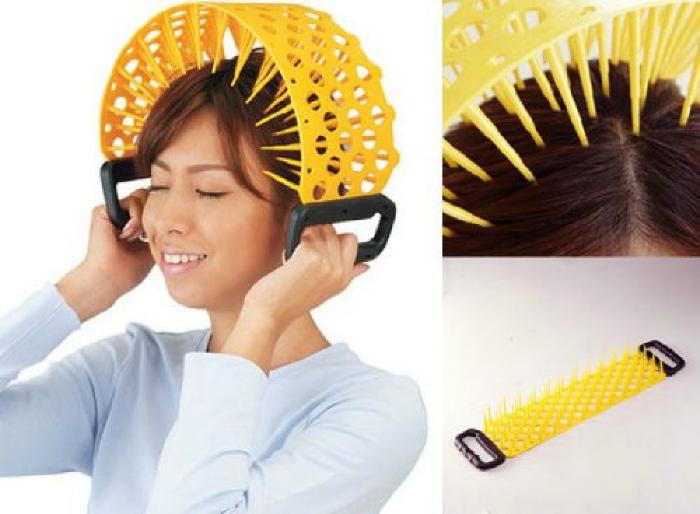 Устройство для массажа головы.