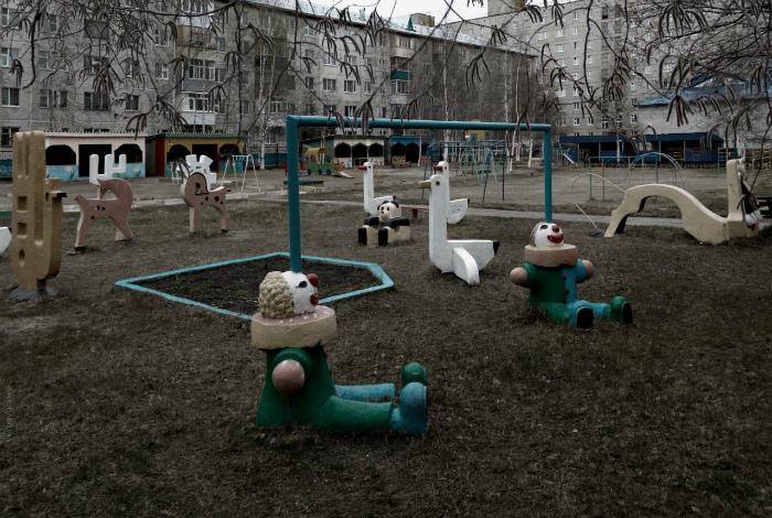 Детские скульптуры.