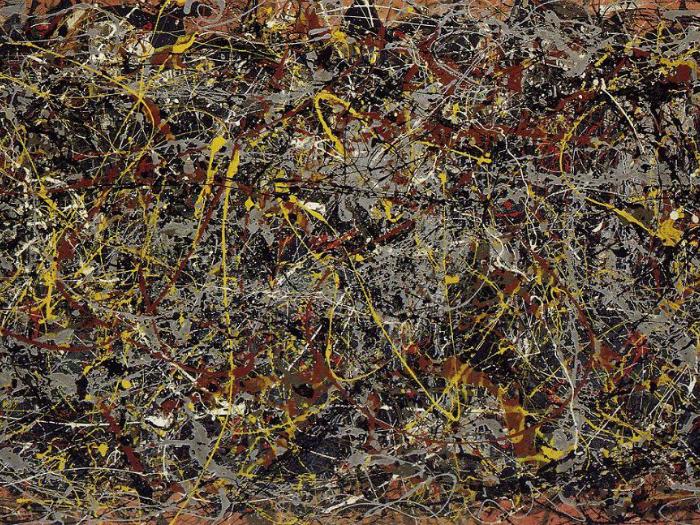 Цена: 0 миллионов. Беспредметная картина от художника Поллока Джексона, написанная в 1950 году.