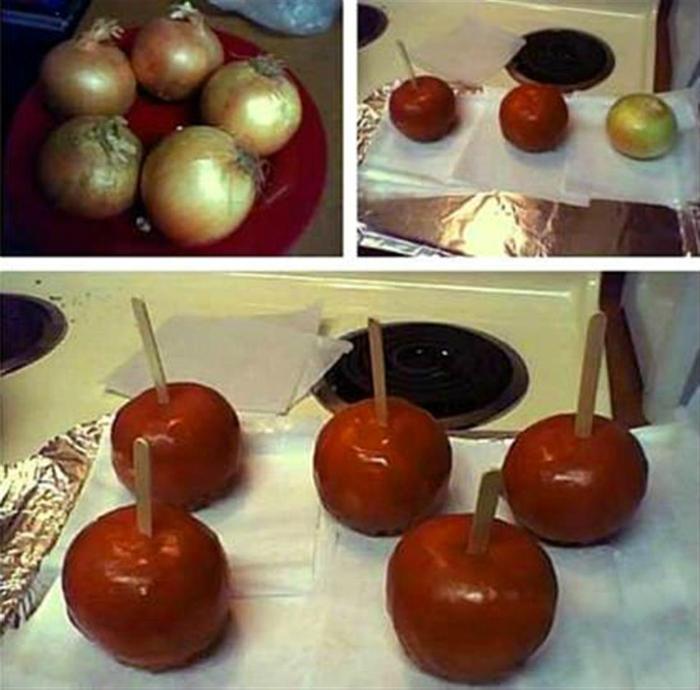 Вкуснейший лук, замаскированный под карамелизированные яблоки.