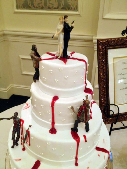 Торт в стиле зомби-апокалипсис.