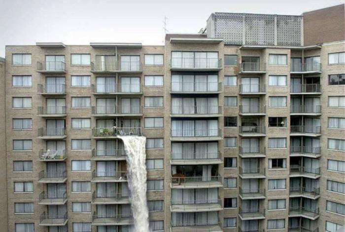 Ниагарский водопад из квартиры. | Фото: Pinterest.