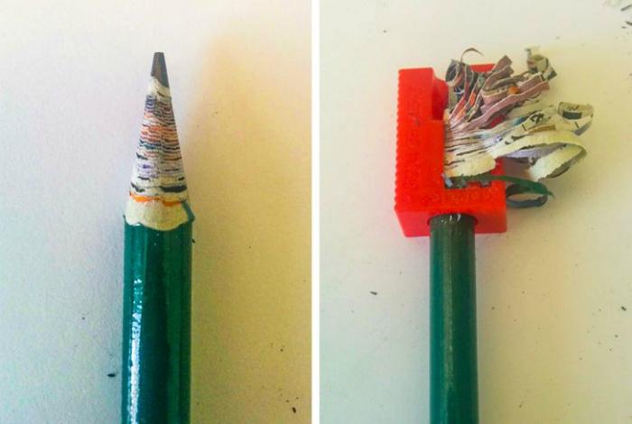Карандаш из переработанной бумаги. | Фото: Познавательно.