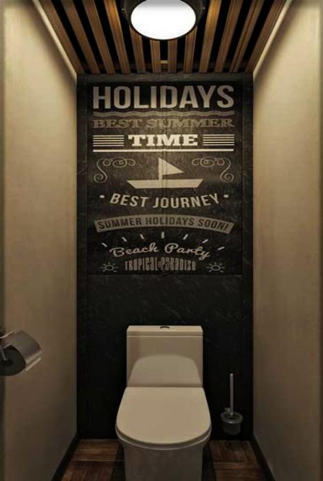 Туалет в современном стиле. | Фото: postila.ru.