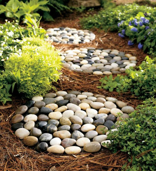 Минималистичные дорожки из камней.