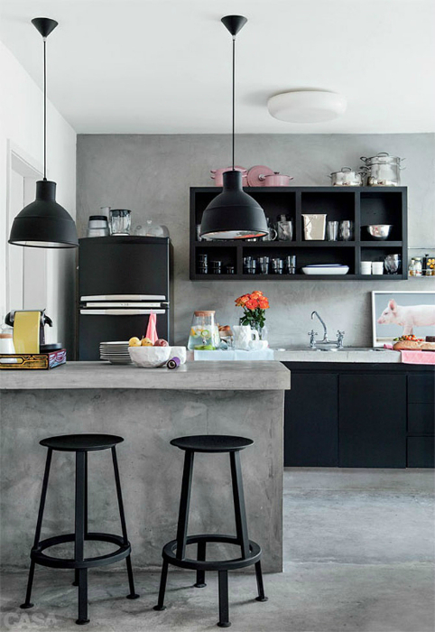 Кухня в индустриальном стиле.