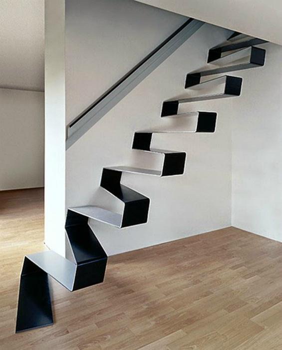 Современный дизайн лестницы.