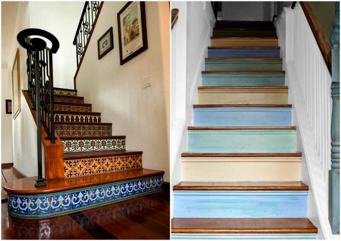 Идеи декора лестницы.