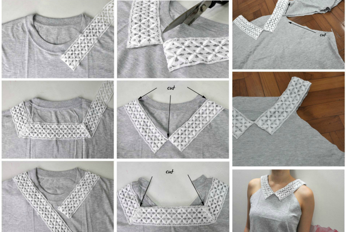 Очаровательная безрукавка из футболки.