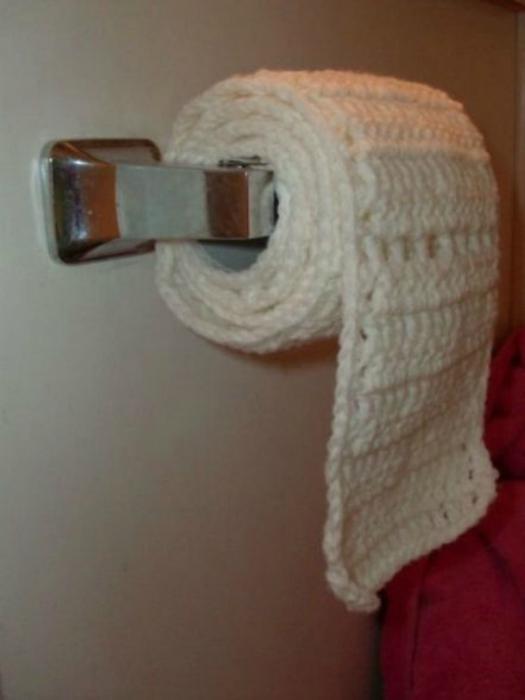 Зимняя туалетная бумага.