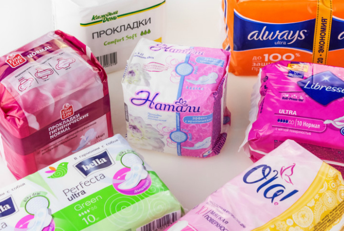 Гигиенические прокладки для женщин. | Фото: Росконтроль.
