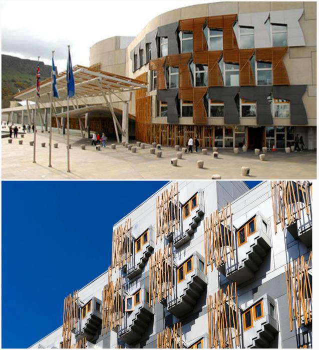 Новое здание Шотландского парламента.
