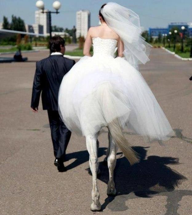 Когда твоя невеста - «необыкновенная» женщина. | Фото: Tous Perfect.