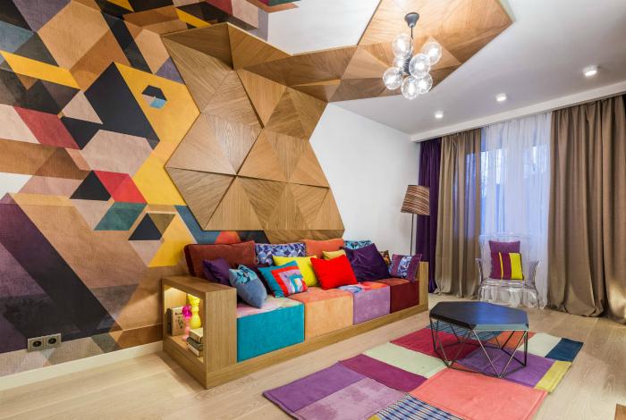 Сложная геометрия на одной из стен.