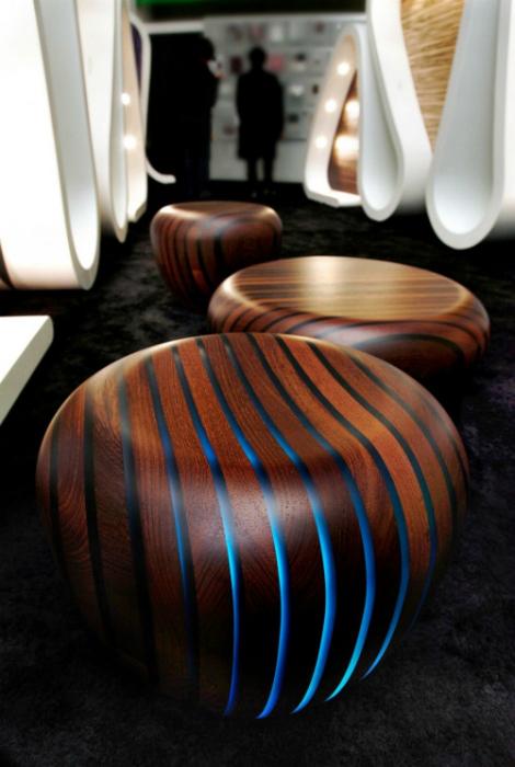 Дизайнерская мебель с LED подсветкой.
