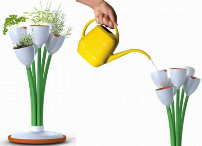 Подставка Stem Garden для выращивания трав.
