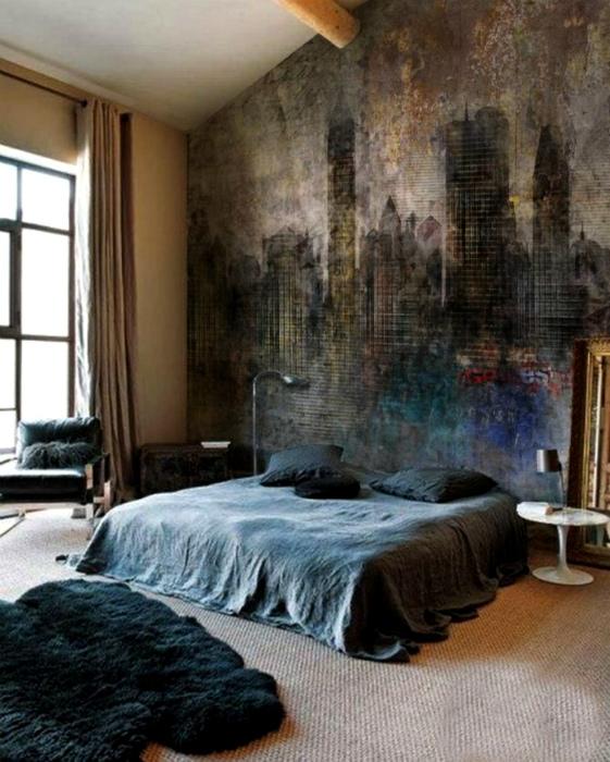 Оригинальная спальня в стиле хипстер.