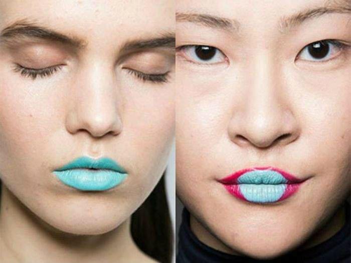 Экстравагантные голубые губы.