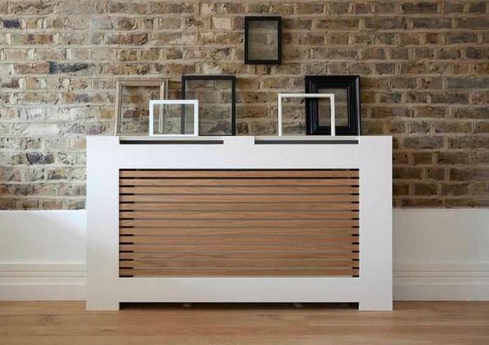 Современный дизайн короба для радиатора отопления.