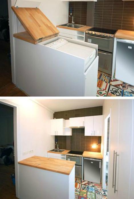 Шкафчик для стиральной машинки. | Фото: Pinterest.