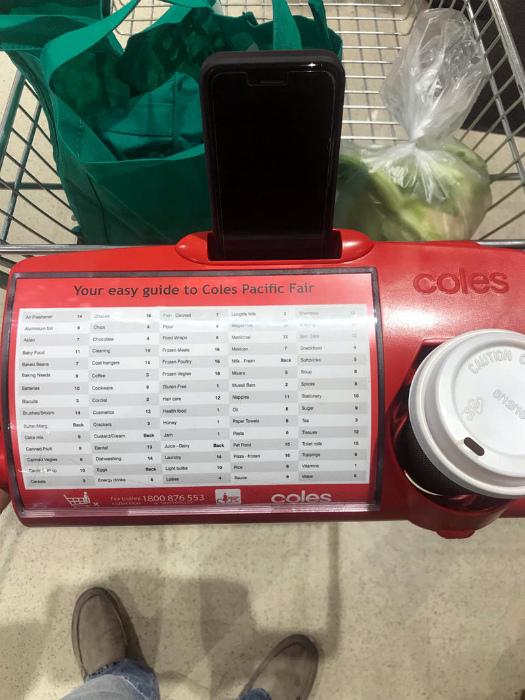 Удобная тележка из супермаркета. | Фото: LinkedIn.