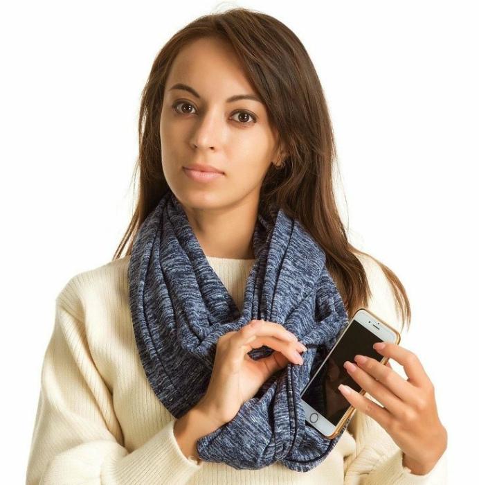 Шарф с небольшим карманом. | Фото: Informohu24.com.