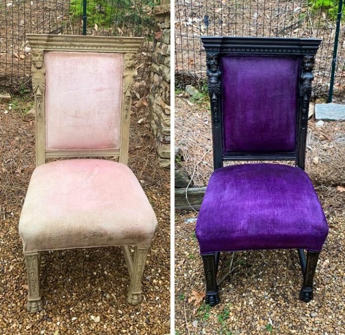 Великолепное обновление стула. | Фото: Genial.guru.