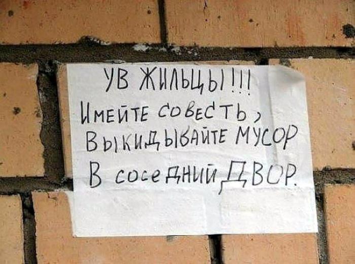 Сохраним чистоту своего двора! | Фото: ЯПлакалъ.