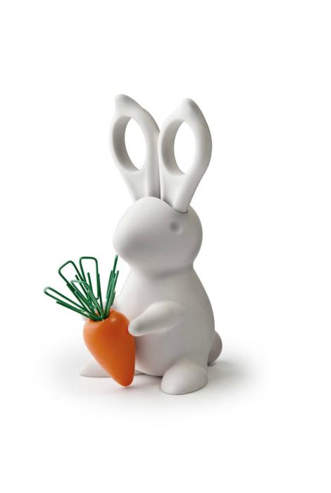 Храните канцелярию в белоснежном кролике.