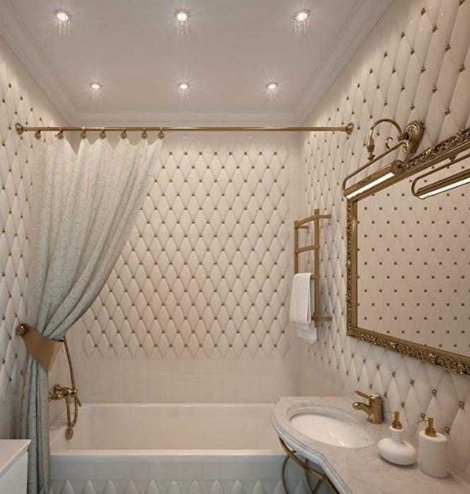 Ванная комната в классическом стиле.